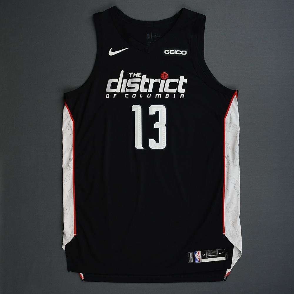 Thomas Bryant - Washington Wizards - 2018-19 Season - Game-Worn Black City Edition Jersey - Double-Double