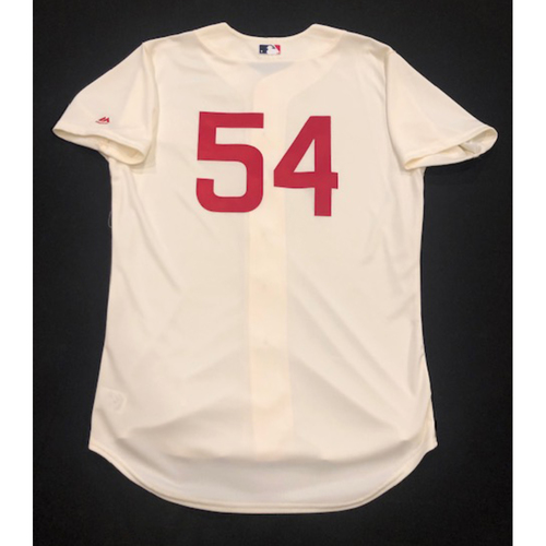 Photo of Sonny Gray -- Game-Used 1936 Throwback Jersey -- Cubs vs. Reds on June 30, 2019 -- Jersey Size 44