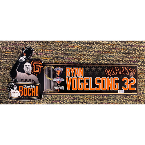 Photo of 2019 Team Issued Thank You BOCH! Locker Tag - #32 Ryan Vogelsong