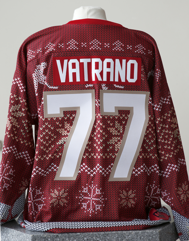 #77 Frank Vatrano Autographed Holiday Jersey