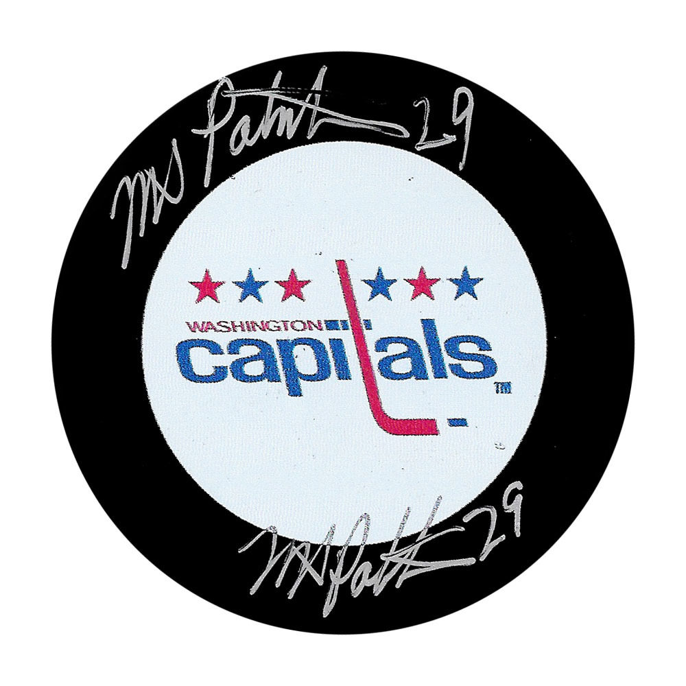 Mike Palmateer Double Signed Washington Capitals Puck