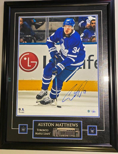 16x20 Auston Matthews Etched Photo Framed