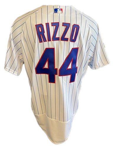 Photo of Anthony Rizzo Game-Used Jersey -- Mother's Day 2021 -- Pirates vs. Cubs -- 5/9/21 -- Size 48