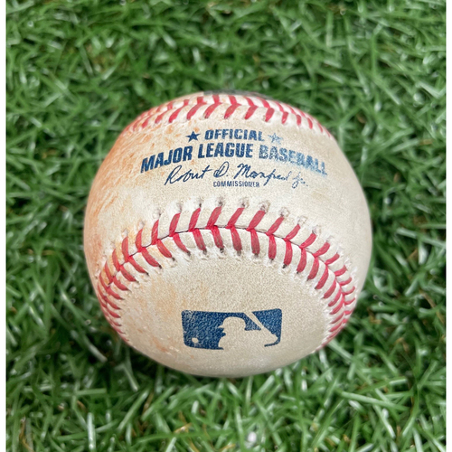 Photo of Game Used Baseball: Gary Sanchez single off Charlie Morton - Top 2 - August 9, 2020 v NYY