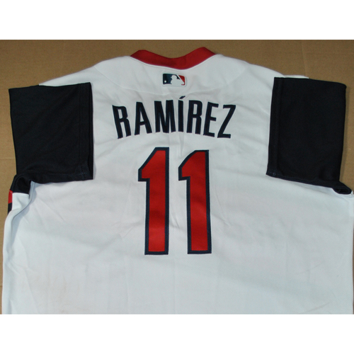 Photo of Game-used Jersey - 2021 Little League Classic - Los Angeles Angels vs. Cleveland Indians - 8/22/2021 - Great Lakes, Jose Ramirez #11