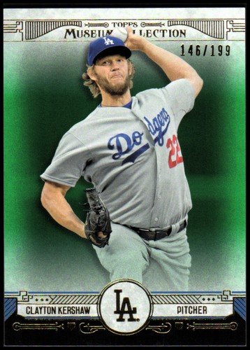Photo of 2015 Topps Museum Collection Green #61 Clayton Kershaw