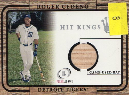 Photo of 2001 Fleer Legacy Hit Kings #8 Roger Cedeno