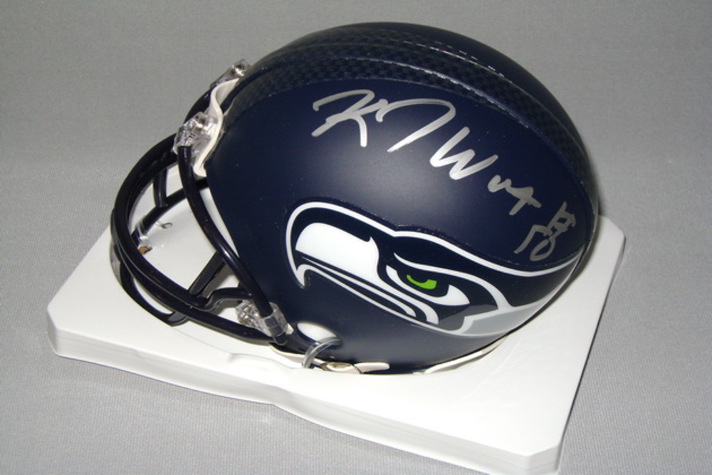 NFL - SEAHAWKS K. J. WRIGHT SIGNED SEAHAWKS MINI HELMET