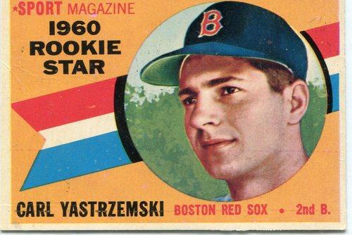 Photo of 1960 Topps #148 Carl Yastrzemski Rookie Card -- Hall of Fame Class of 1989