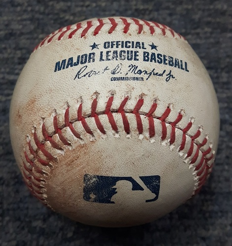 Photo of Authenticated Game Used Baseball - Jose Ramirez Single off of Marcus Stroman (CLE at TOR on May 8, 2017)