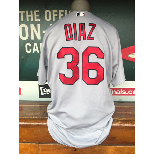 Cardinals Authentics: Aledmys Diaz Game-Used Road Grey Jersey