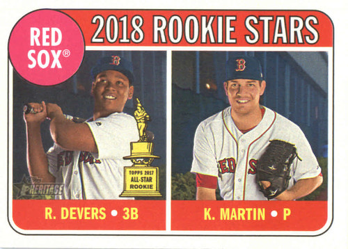 Photo of 2018 Topps Heritage #189 Kyle Martin RC/Rafael Devers RC