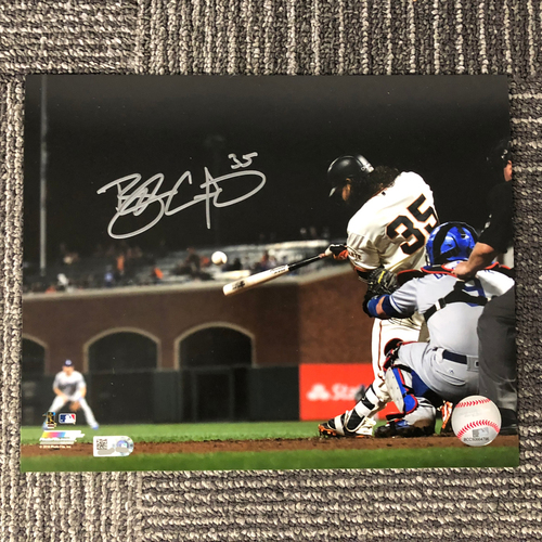 "Photo of San Francisco Giants - Autographed Photo 8""x10"" - Brandon Crawford (batting)"