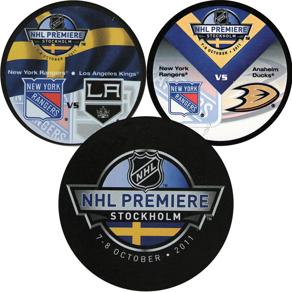2011 NHL Premiere Stockholm Puck Lot