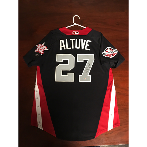 Photo of Jose Altuve 2018 Major League Baseball Workout Day Autographed Jersey
