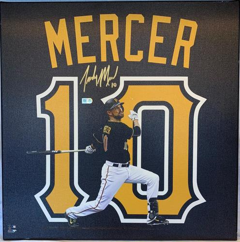 Photo of Jordy Mercer Autographed Stretched Canvas Uniframe
