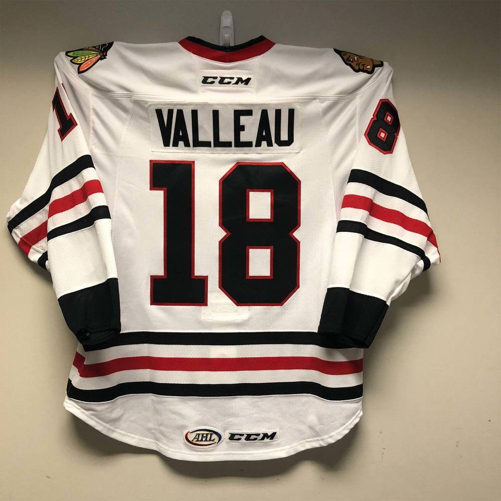 Rockford IceHogs Jersey Issued to #18 Nolan Valleau