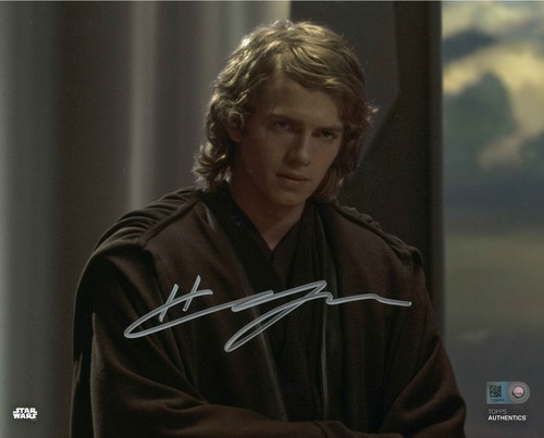 Hayden Christensen As Anakin Skywalker  8X10 Autographed In 'Silver' INK PHOTO