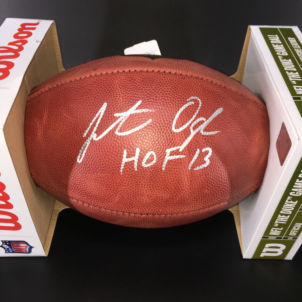 HOF - Ravens Jonathan Ogden Signed Authentic Football