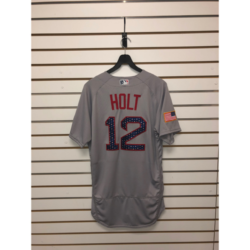 Photo of Brock Holt Team-Issued 2017 Stars and Stripes Jersey