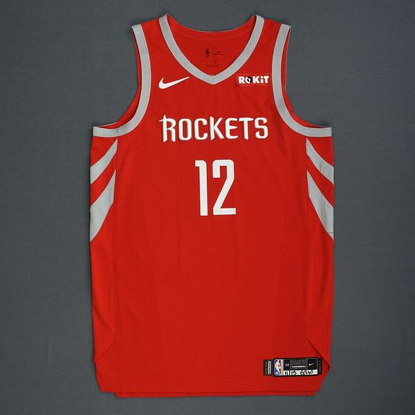 5c6e8a35843 Vincent Edwards - Houston Rockets - Rookie-Debut - Game-Worn Icon Edition  Jersey - 2018-19 Season