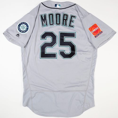 Photo of 2019 Japan Opening Day Series - Game Used Jersey - Dylan Moore, Seattle Mariners at Oakland Athletics -3/18/2019 , 3/20/2019