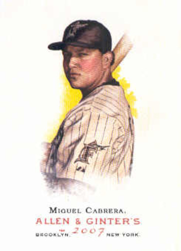 Photo of 2007 Topps Allen and Ginter #90 Miguel Cabrera