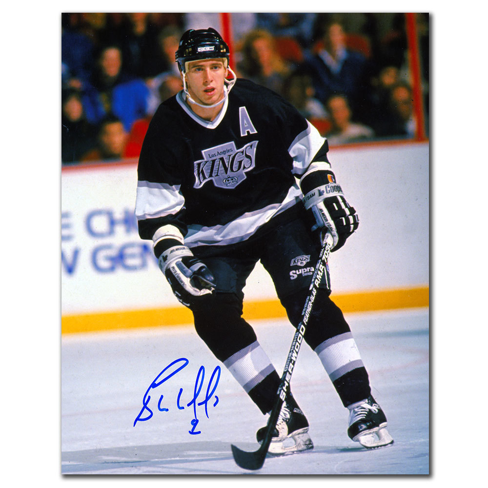 Bernie Nicholls Los Angeles Kings RETRO Autographed 8x10