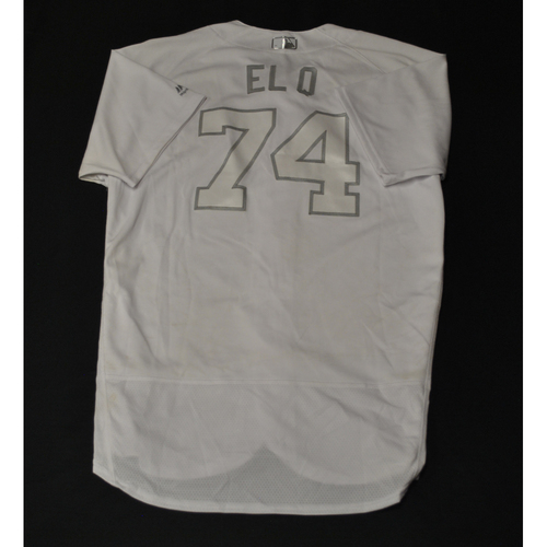 "Photo of Jose ""EL Q"" Quijada Miami Marlins Game-Used 2019 Players' Weekend Jersey"