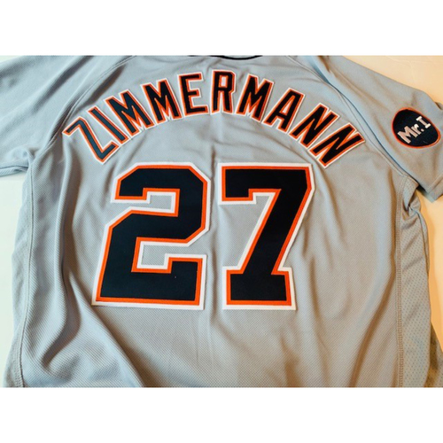 Photo of Game-Used Road Jersey: Jordan Zimmermann