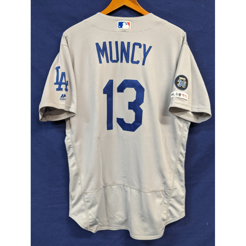 Photo of Max Muncy Game Used Road Home Run Jersey July 15th 2019