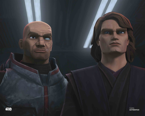 Anakin Skywalker and Bad Batch Clone Trooper Wrecker