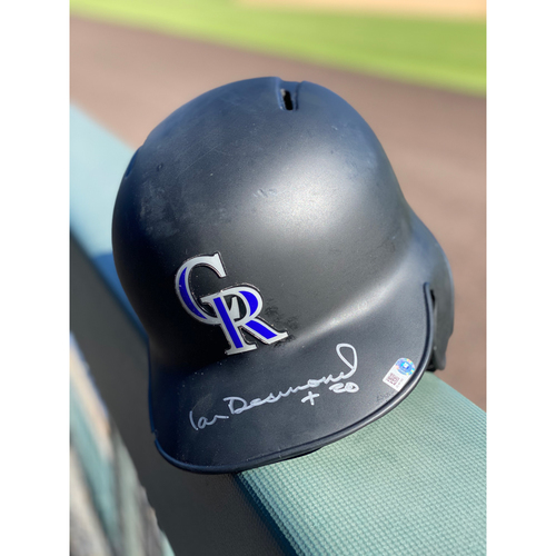 Photo of Colorado Rockies Autographed Helmet: Ian Desmond Size 7 1/8