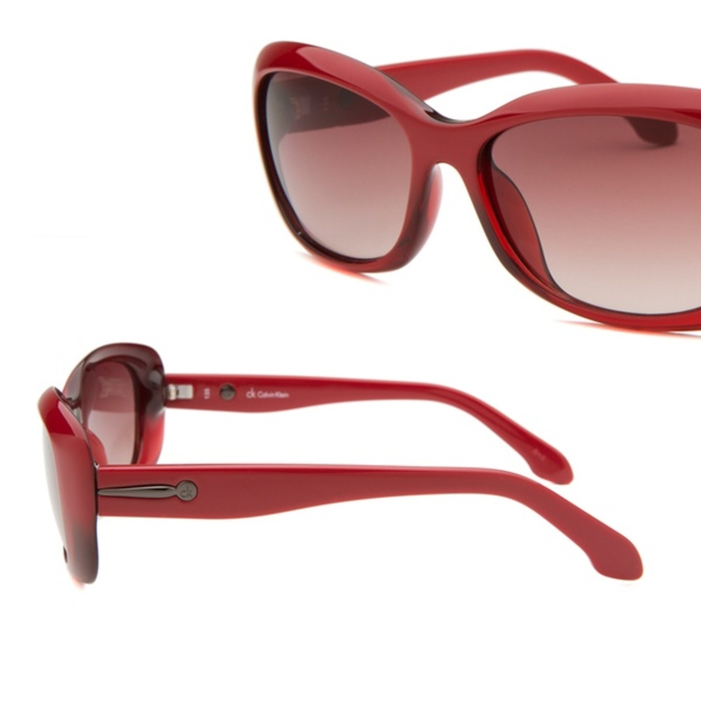 Photo of Calvin Klein Women's Rectangle Red Translucent Sunglasses - CK3131S-111