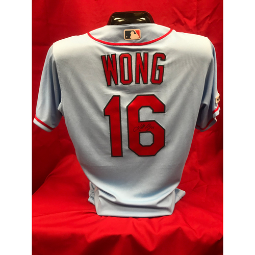 Photo of Kolten Wong Team Issued Road Alternate Autographed Jersey (Size 42)