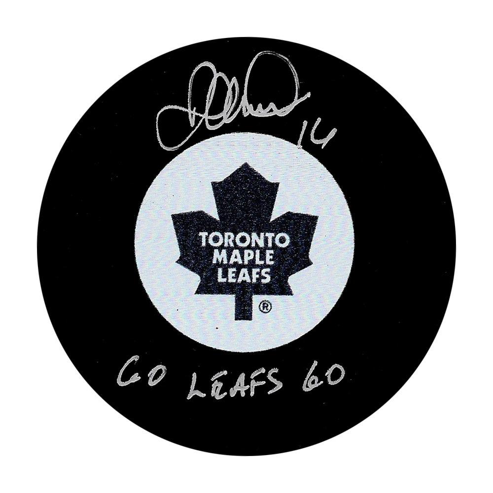 Darcy Tucker Autographed Toronto Maple Leafs Puck w/GO LEAFS GO Inscription