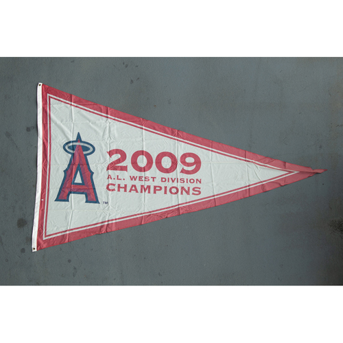 Photo of Los Angeles Angels 2009 American League West Division Champions Team-Issued Pennant