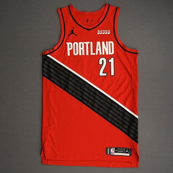 Image of Keljin Blevins - Portland Trail Blazers - Game-Worn Statement Edition Jersey - Dressed, Did Not Play (DNP) - 2021 NBA Playoffs