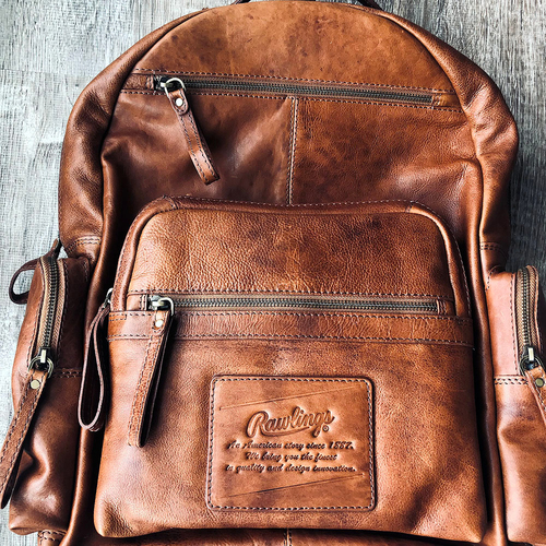 Photo of UMPS CARE AUCTION: Rawlings Genuine Leather Rugged Backpack