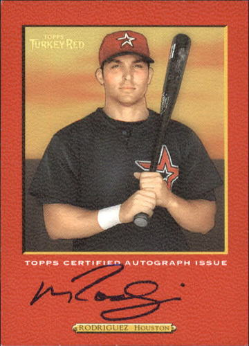 Photo of 2005 Topps Turkey Red Autographs Red #MRO Mike Rodriguez B/300