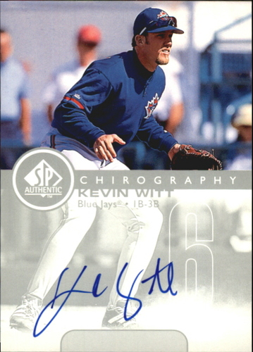Photo of 1999 SP Authentic Chirography #KW Kevin Witt