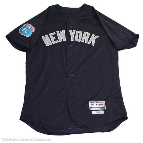 Photo of Gary Sanchez New York Yankees 2017 Spring Training Road Game-Used #24 Jersey (Size 48)