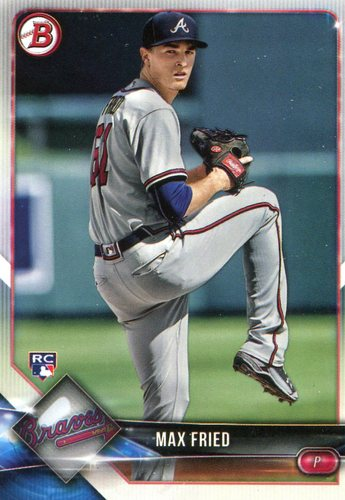 Photo of 2018 Bowman #90 Max Fried  -- Rookie Card