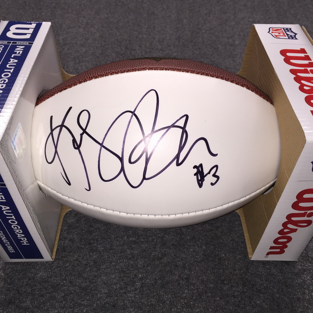 NFL - Texans Kris Brown signed panel ball