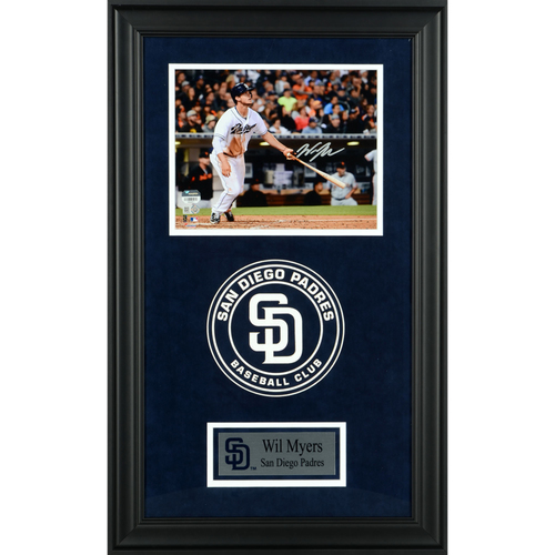 "Photo of Wil Myers San Diego Padres Deluxe Framed Autographed 8"" x 10"" Photo"