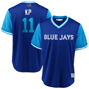 Toronto Blue Jays 2018 Players Weekend Kevin Pillar Little League Replica Jersey by Majestic