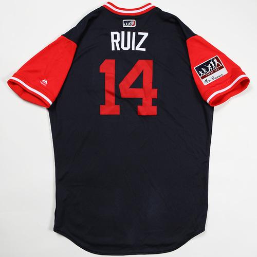"Photo of Rio ""Ruiz"" Ruiz Atlanta Braves Game-Used Jersey 2018 Players' Weekend Jersey"