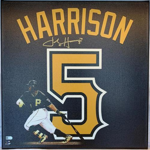 Photo of Josh Harrison Autographed Stretched Canvas Uniframe