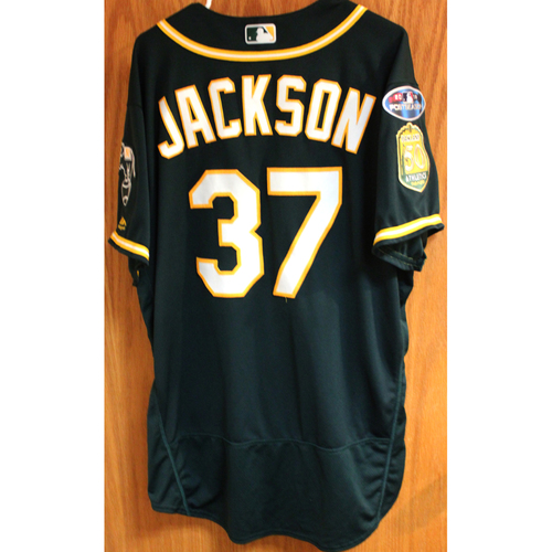 Photo of Game-Used Jersey: Edwin Jackson AL Wild Card Game 10/3/18