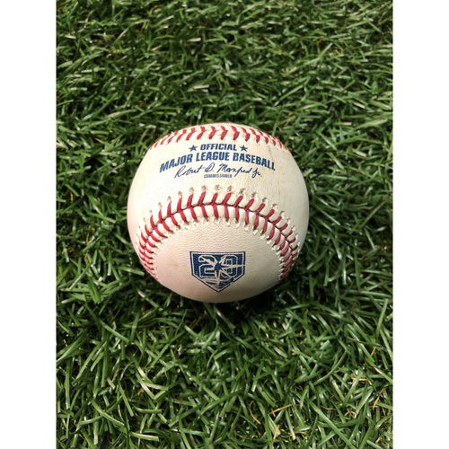 20th Anniversary Game Used Baseball: C.J. Cron double off Francisco Liriano - July 9, 2018 v DET